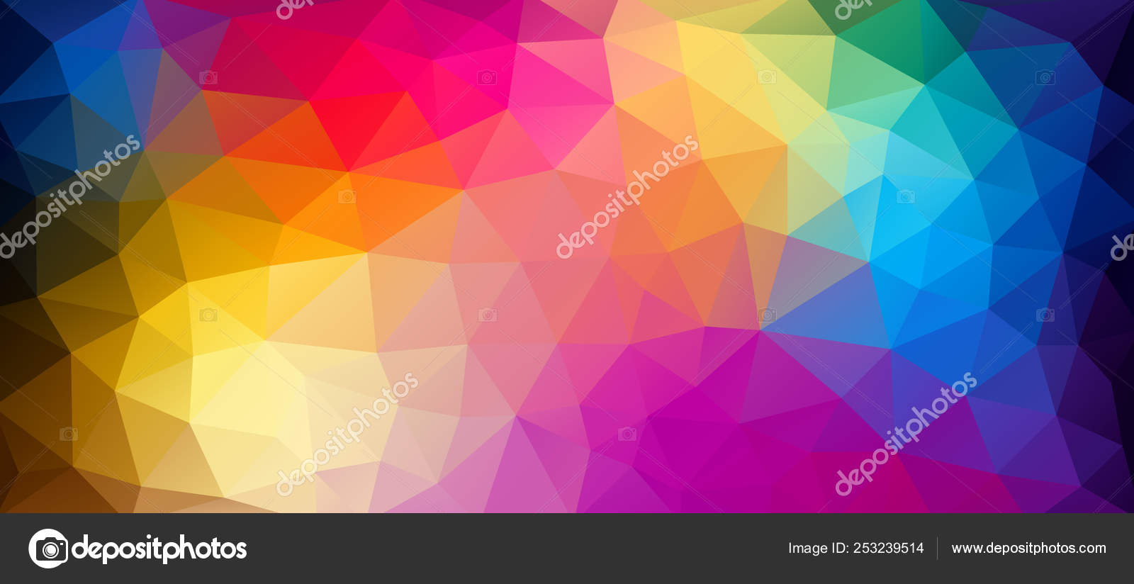 Flat Horizontal Bright Color Geometric Triangle Wallpaper