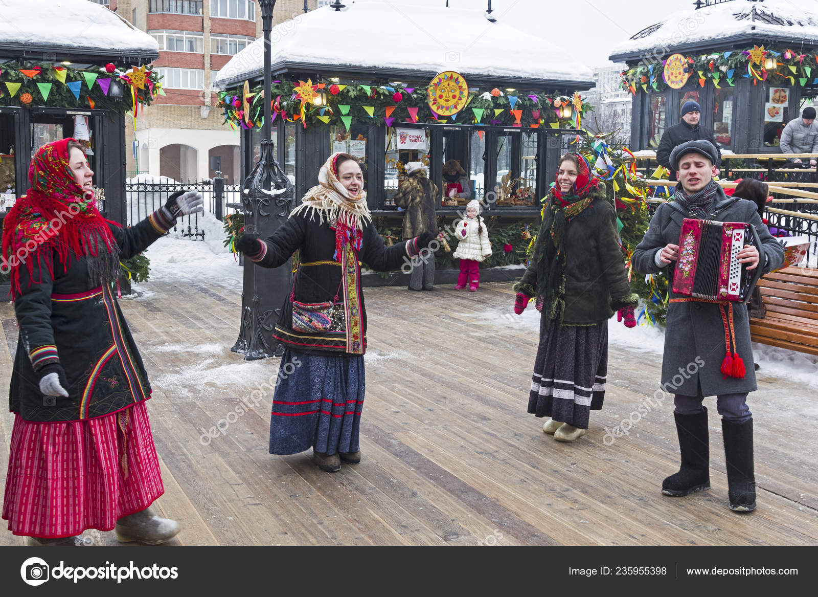 Moscow Russia February 2018 Costume Performance Shrovetide