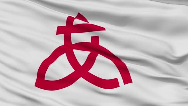 Vértes Atsugi városi zászló, Kanagawa, Japán prefektúra