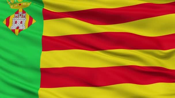 Closeup Castello la Plana city flag, Spain