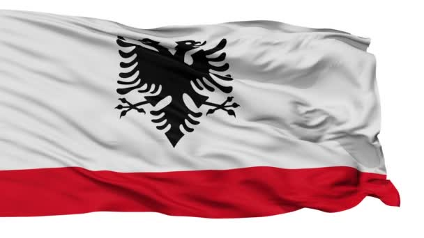 Albania Naval Ensign Flag Isolated Seamless Loop