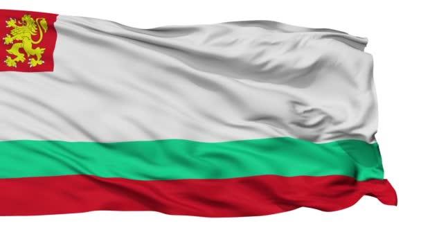 Bulgaria Naval Ensign Flag Isolated Seamless Loop