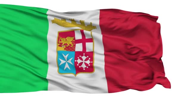 Italy Naval Ensign Flag Isolated Seamless Loop