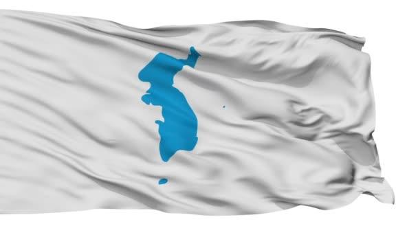 Unification Korea Flag Isolated Seamless Loop