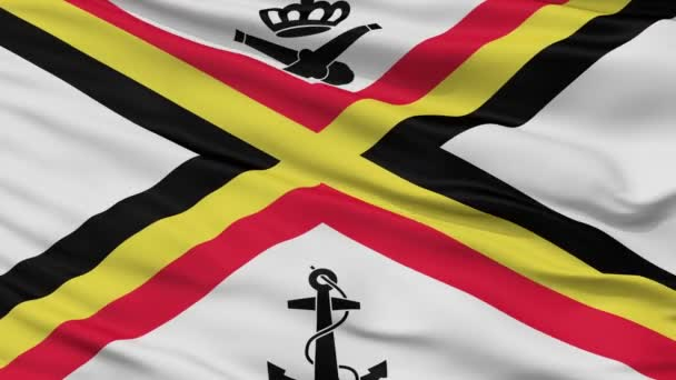 Belgium Naval Ensign Flag Closeup Seamless Loop