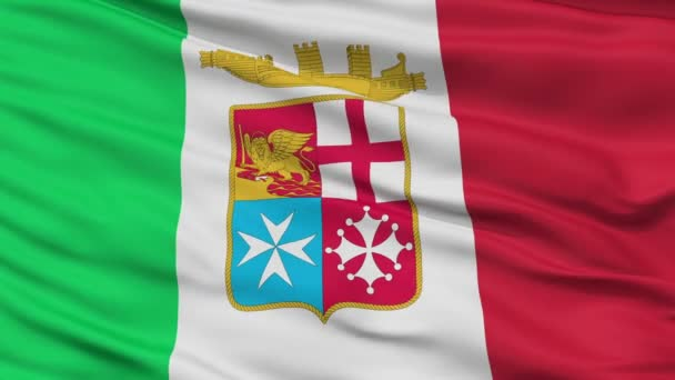 Italy Naval Ensign Flag Closeup Seamless Loop