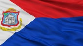Fotografie Sint Maarten Flag, Closeup View, 3D Rendering