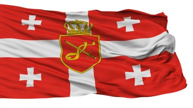 Georgia Main Military Flag, Isolated On White Background, 3D Rendering