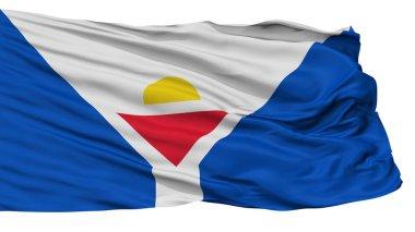 Saint Martin Fictional Flag, Isolated On White Background, 3D Rendering