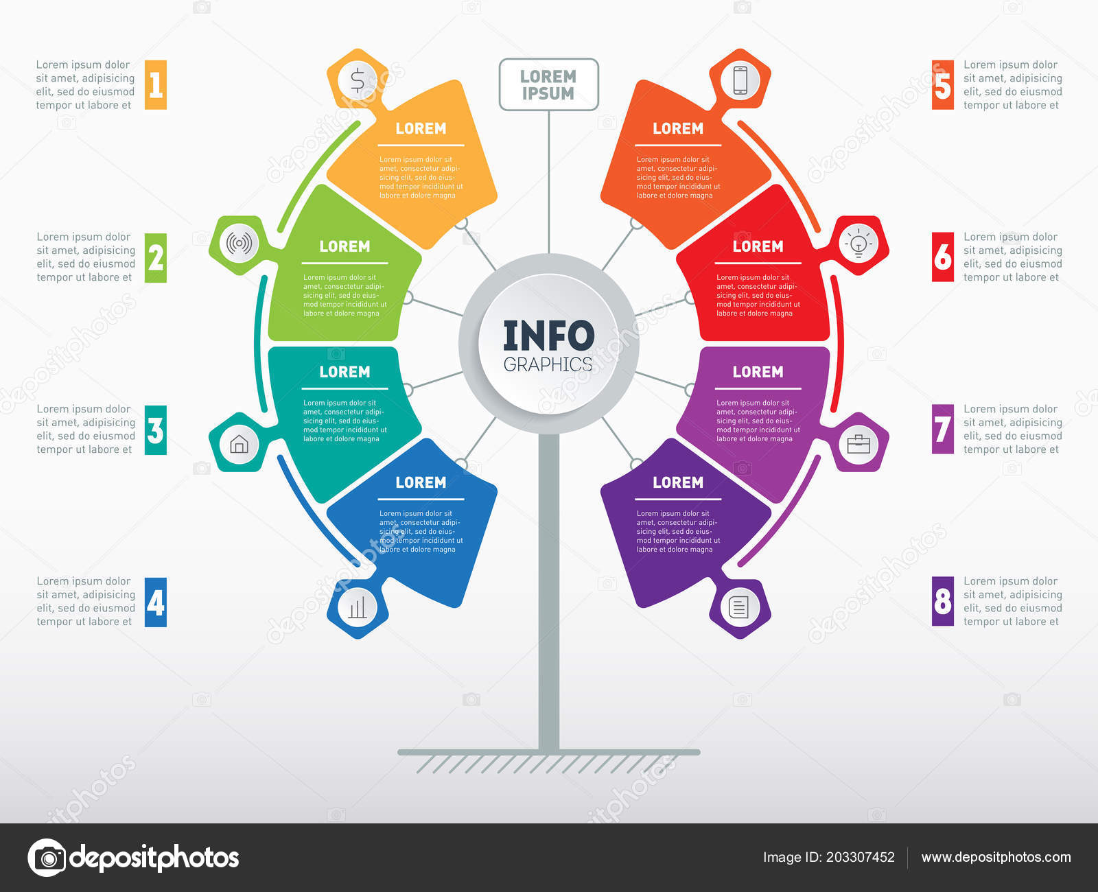 Website Template Business Presentation Concept Options Service Tree Info