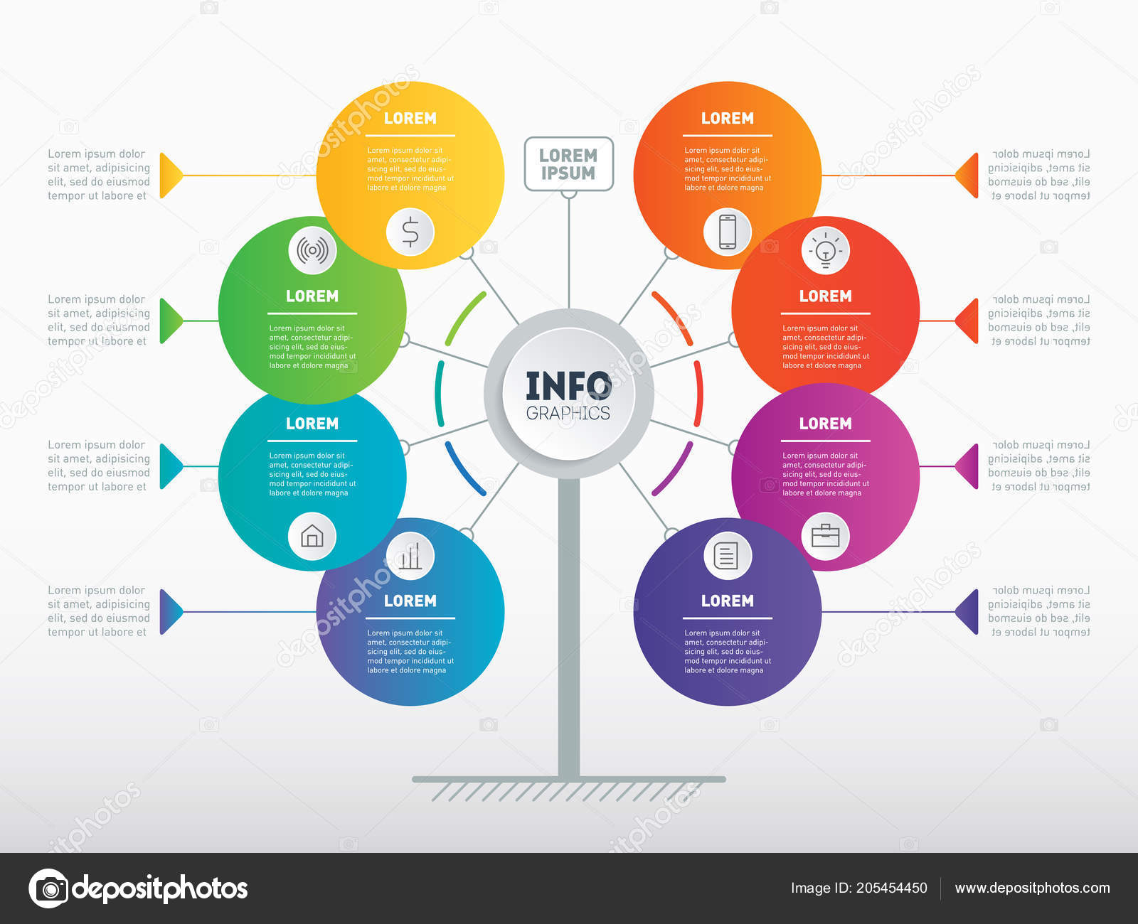 Web Template Of Service Tree Info Chart Or Diagram Website Vector Infographic Technology Education Process By Thebackground