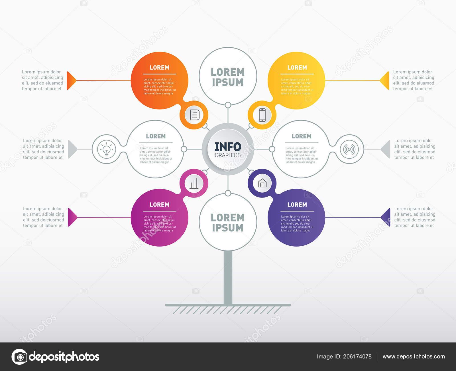 business info presentation concept web template service tree info