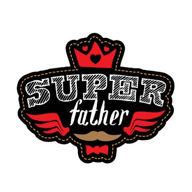 Super father banner, vector illustration clip art vector