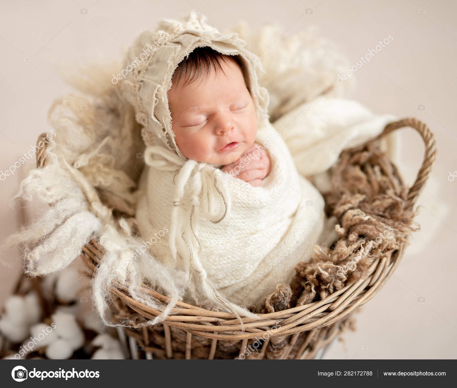 Sleeping Newborn Baby Girl Stock Photo C Tan4ikk 282172788