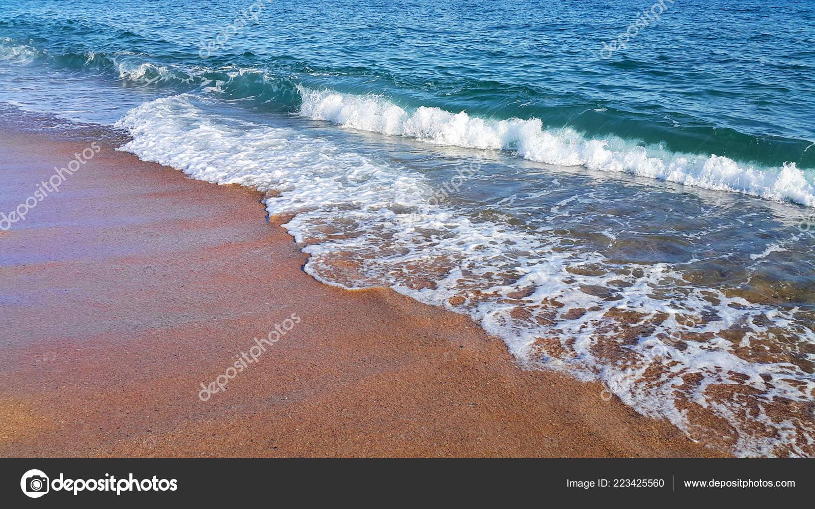Onda Del Mare Con Schiuma Bianca Sullo Sfondo Primo Piano Foto