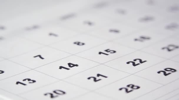 Podepsání dne v kalendáři