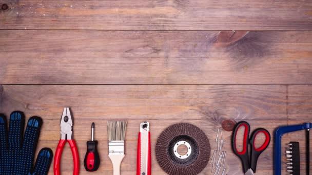 Zastavení pohybu různých nástrojů pro DIY.