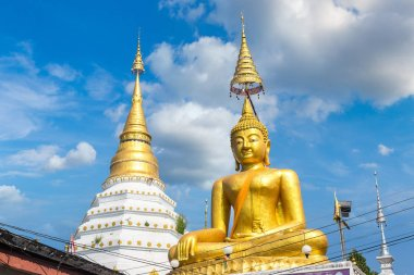Wat Chiang Yuen - Buddhists temple in Chiang Mai, Thailand in a summer day