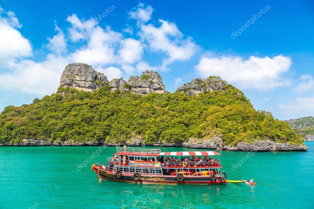 SAMUI, THAILAND - MARCH 29, 2018: Mu Ko Ang Thong National Park, Thailand in a summer day