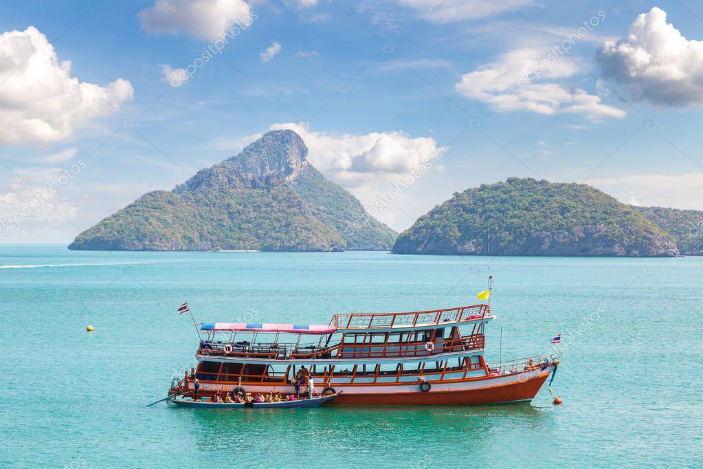 Mu Ko Ang Thong National Park, Thailand in a summer day