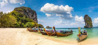 Panorama of Poda island, Thailand in a summer day