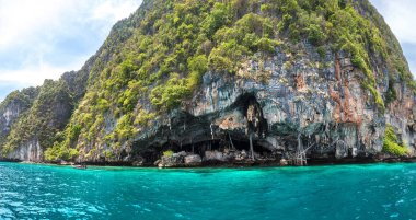 Viking cave on Maya island, Thailand in a summer day