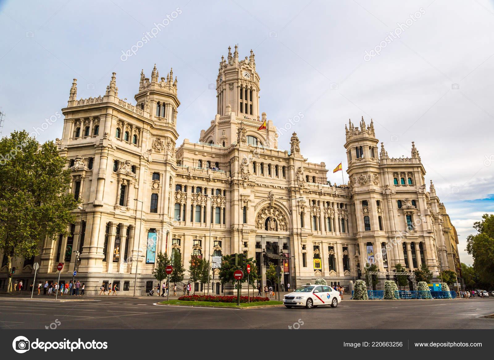 Madrid Espanha Julho 2014 Palácio Cibeles Madrid Lindo Dia