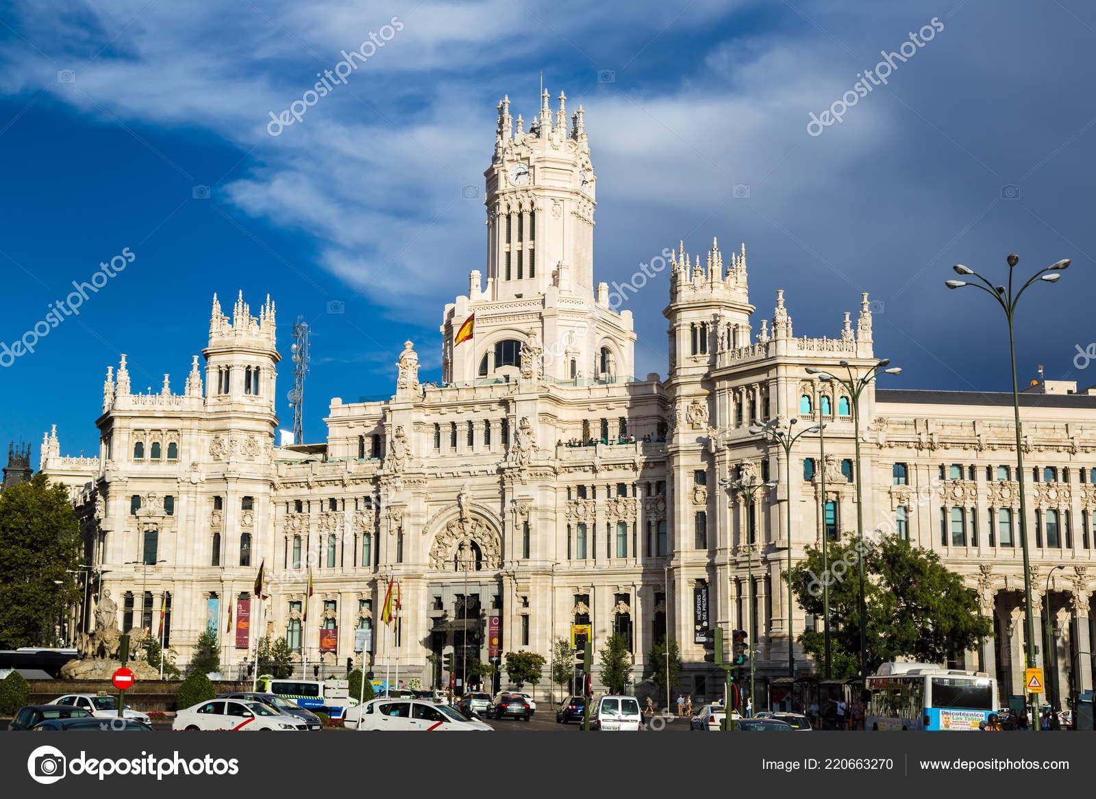 Madrid España Julio 2014 Palacio Cibeles Madrid Día Hermoso