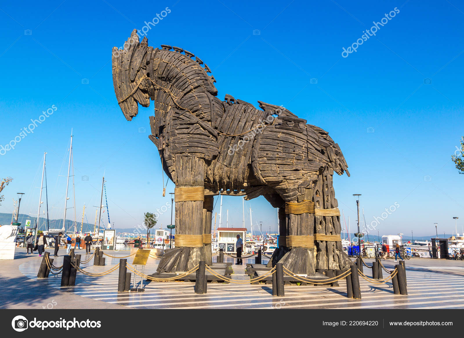 Canakkale Turkey July 2017 Trojan Horse Canakkale Beautiful