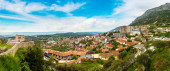 Panoramic View from Kruja castle in a beautiful summer day, Albania