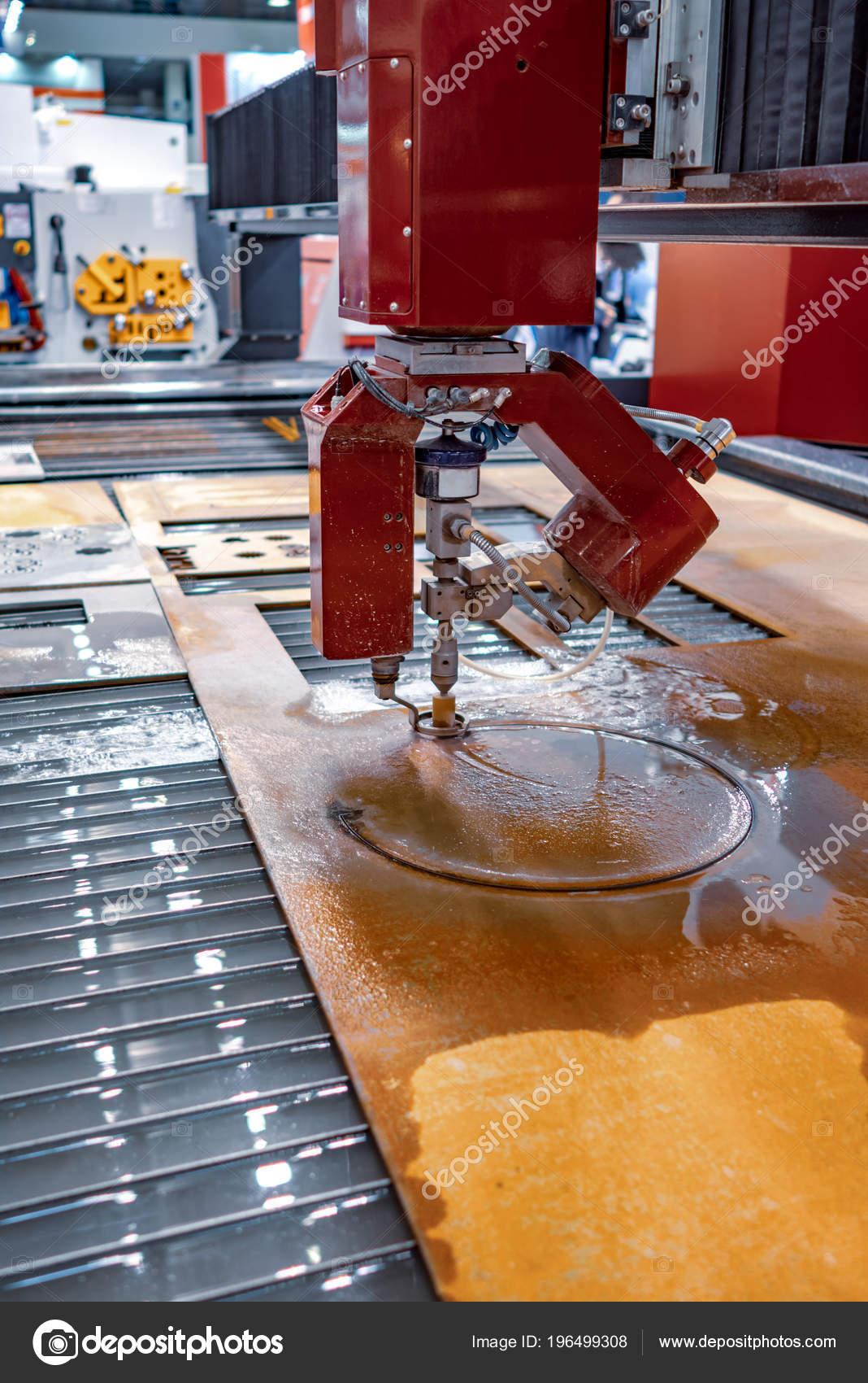 Cnc Water Jet Cutting Machine Modern Industrial Technology — Stock