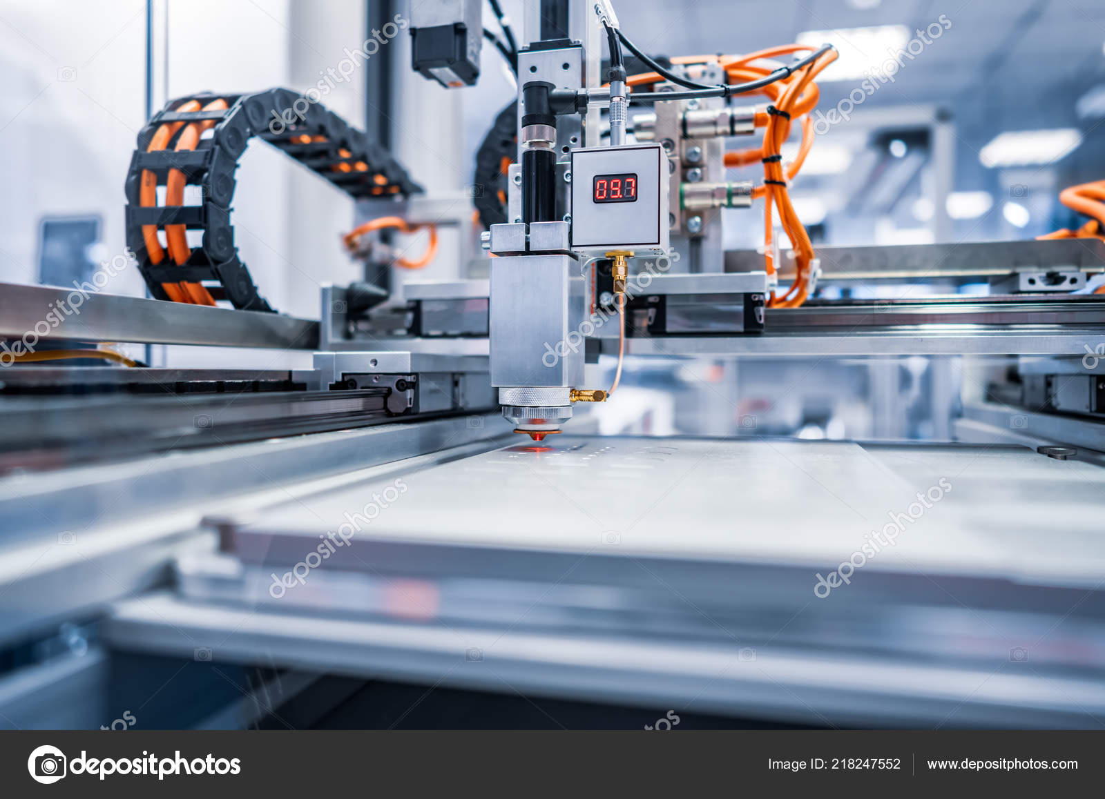 Cnc Laser Cutting Metal Modern Industrial Technology Small
