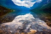 Fényképek Norvégia természet gyönyörű természeti táj. lovatnet tó