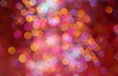 Defocused abstract multicolored bokeh holiday lights background