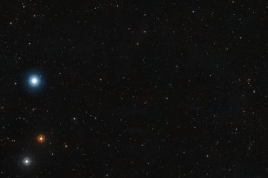 Star field outer space background.  Science presentation backdro