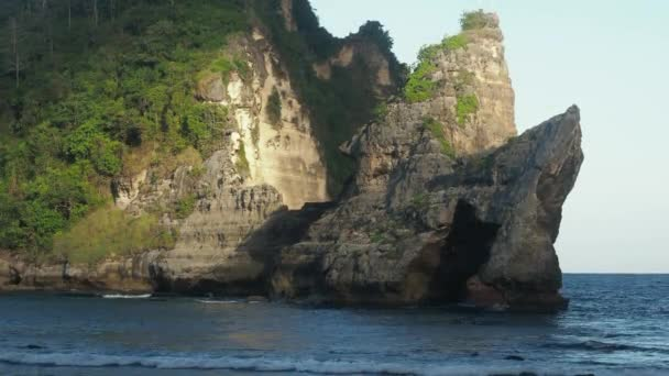 Rock in the ocean at Atuh beach