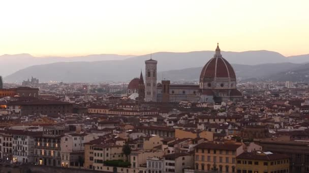 Florence skyline summer sunset view