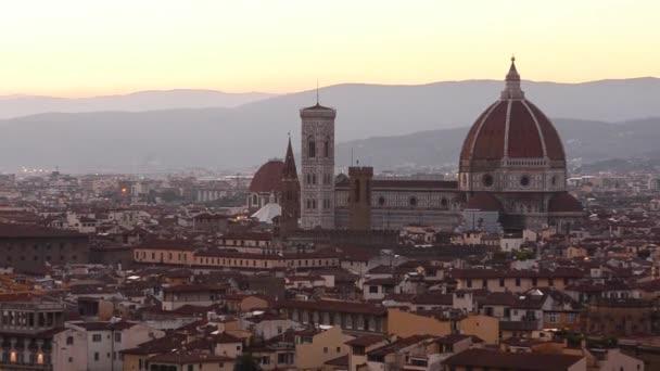 Florence skyline summer sunset view