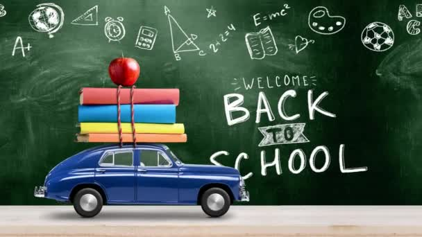Back to school car animation
