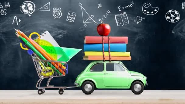 Vissza az iskolai autóanimáció