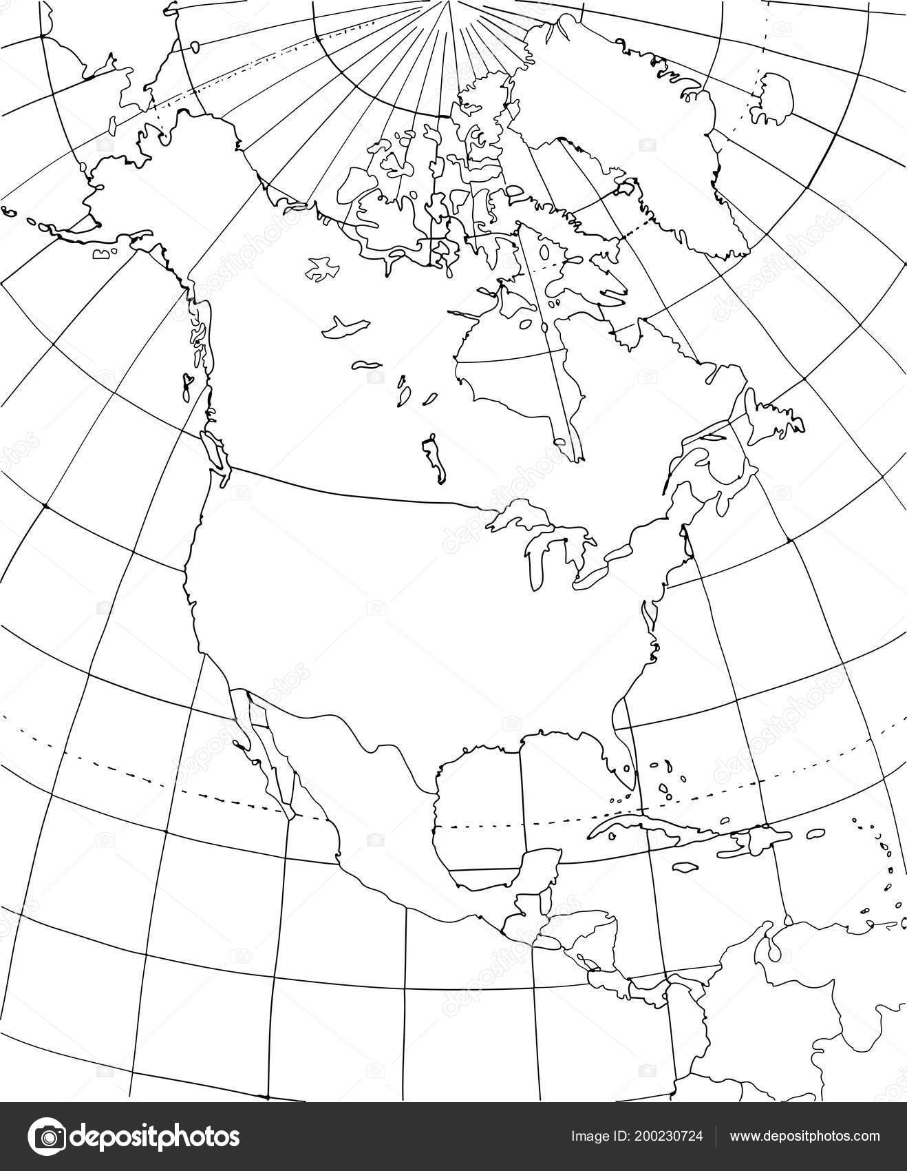Contour Map North America North America Smoothed Country Borders