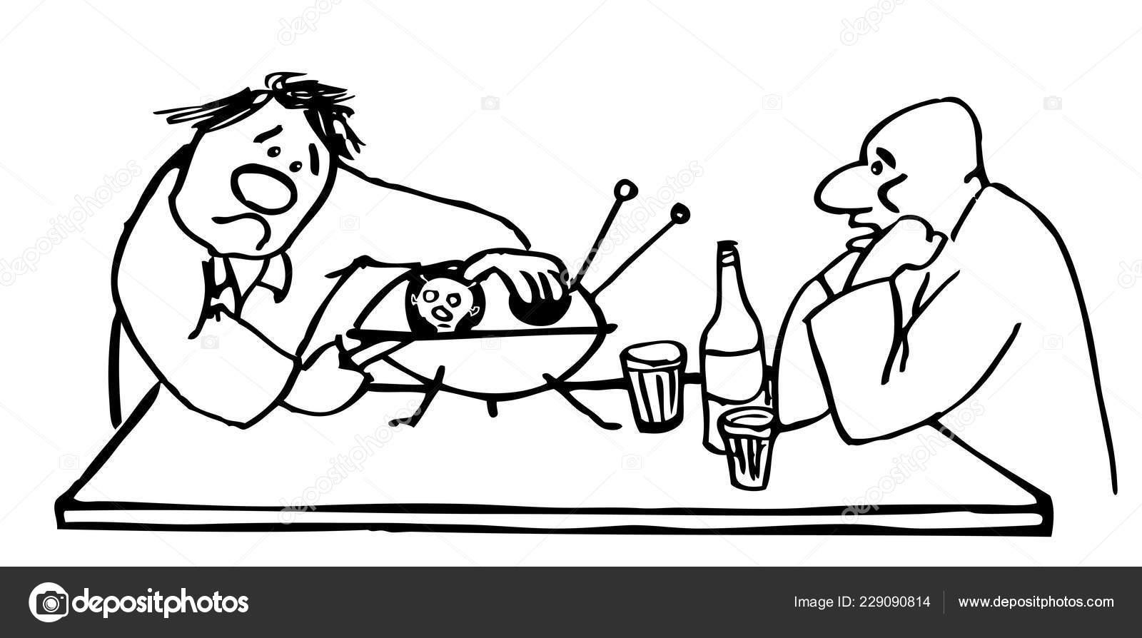 Dos Hombres Borrachos Abren Platillo Pensando Que Una Ostra