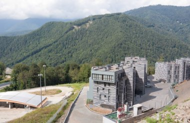 ROSA KHUTOR, RUSSIA - AUGUST 12, 2014:The hotel