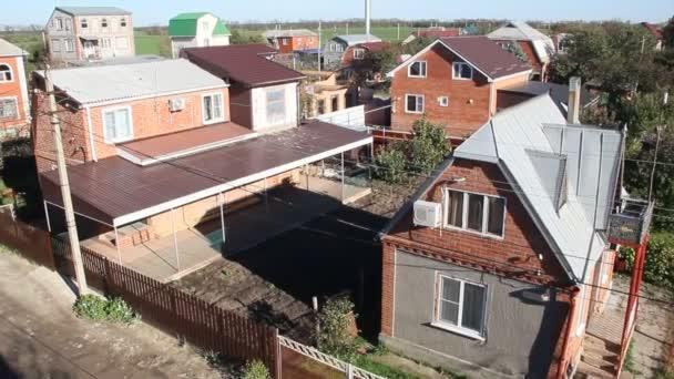 Primorsko-Akhtarsk, Oroszország - 2018. október 29.: a kis ház falu közelében a város a Primorsko-Akhtarsk felülnézet