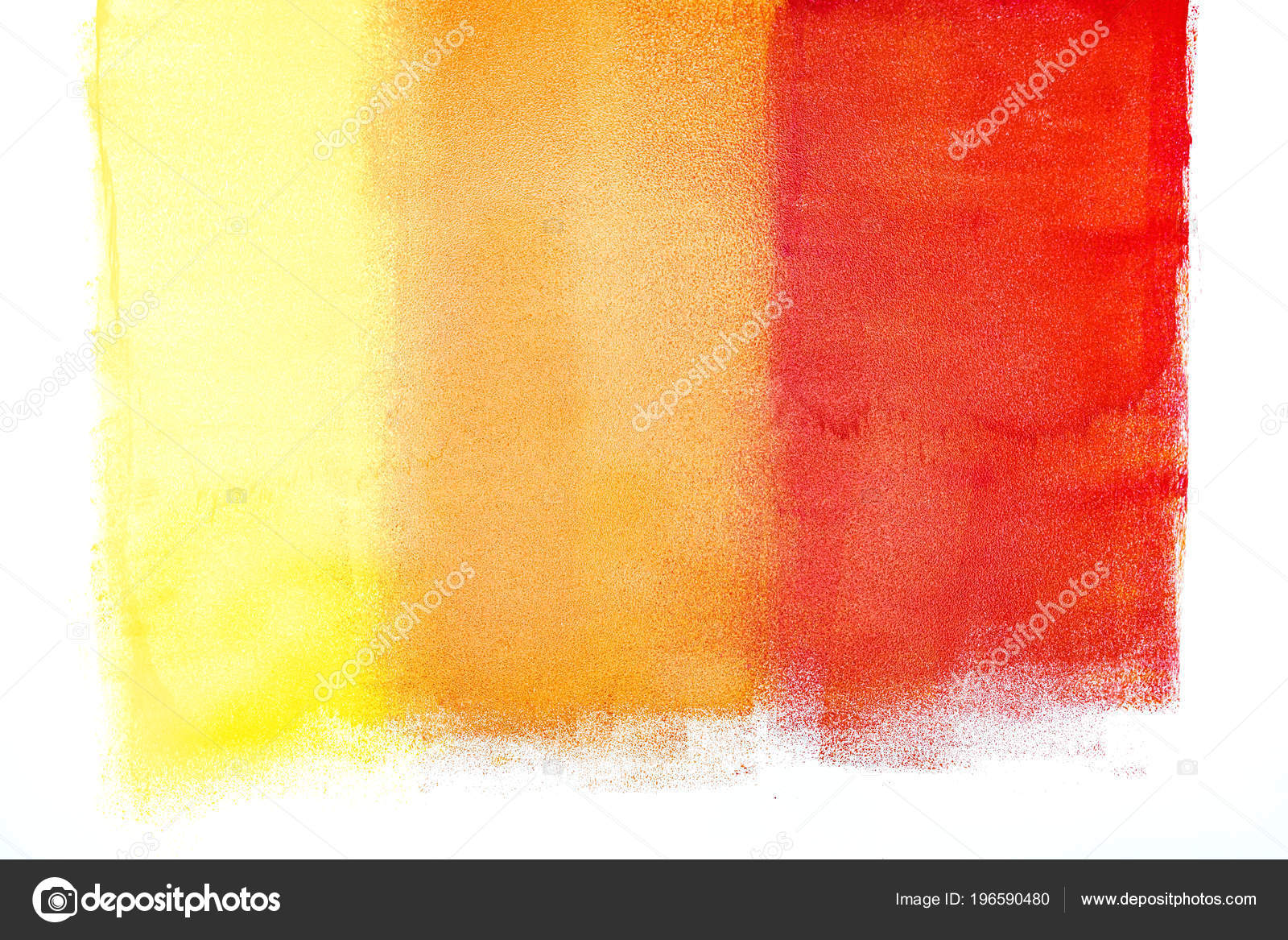 Yellow Orange Red Colors Strokes Paint Roller Wall — Stock Photo ...