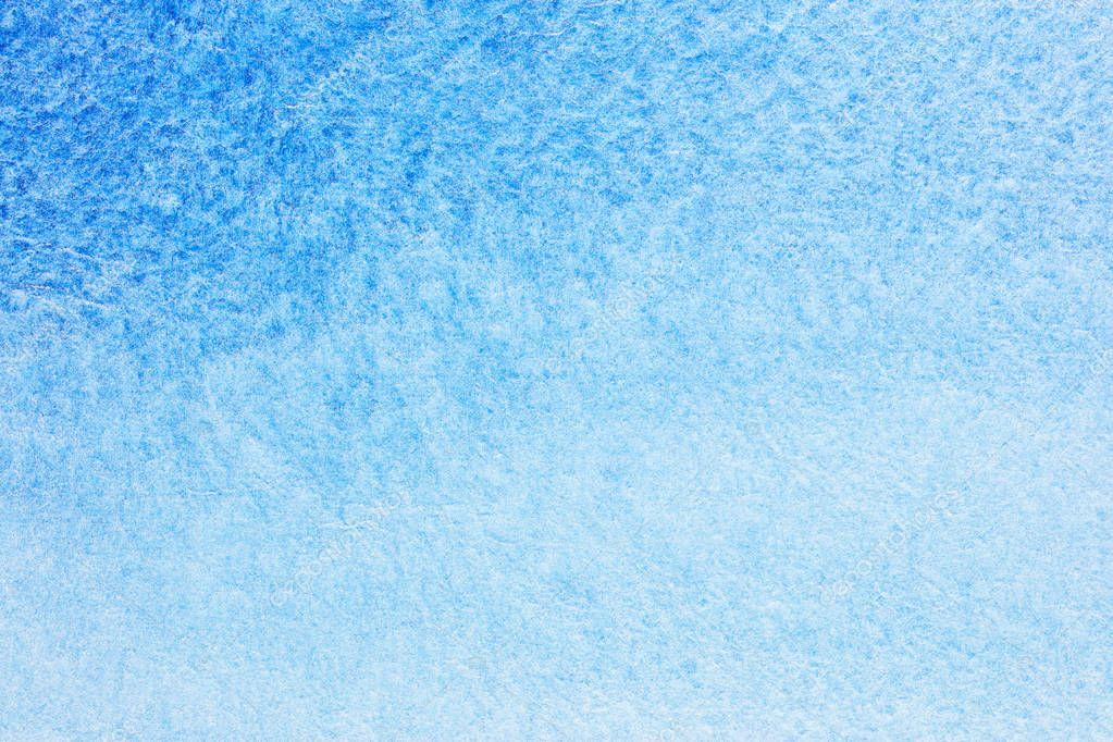 abstract hand drawn blue watercolor background. watercolor on we