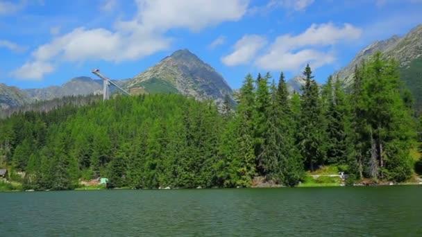 Tatry na Slovensku pohled z vysokého jezera