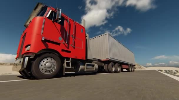 LKW fahren Video 3D Illustration