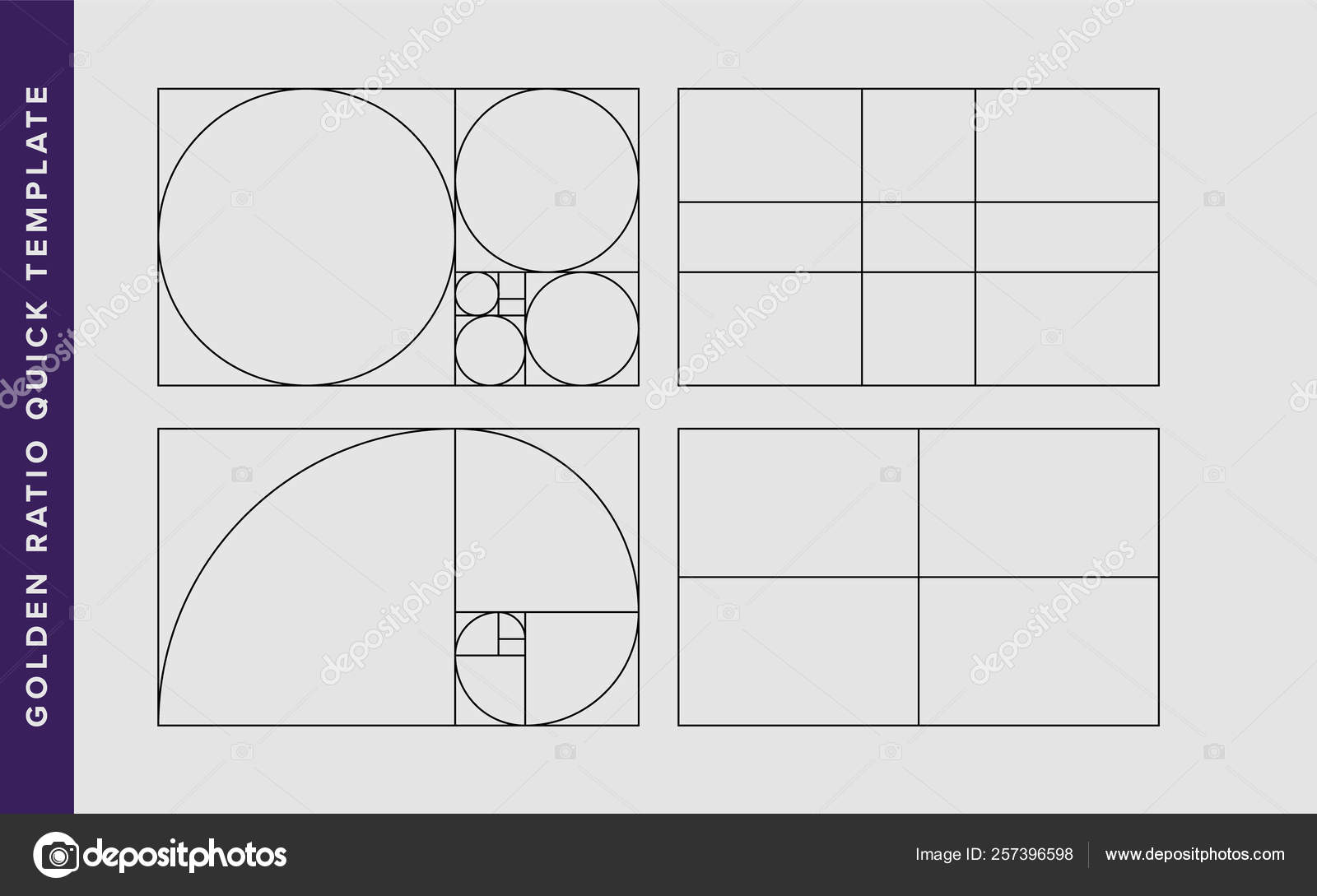 picture about Golden Rule Printable referred to as Golden Ratio Vector Style and design Template Inventory Vector © Vecster