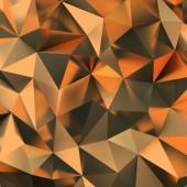 3d goldenen polygonalen Hintergrund. 3D-Bild.